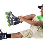 Постер, плакат: Man on rollerblade skates