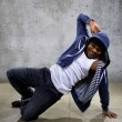 Black male dancing hip hop — Stock Photo #72647663