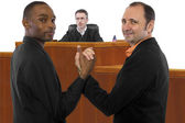 Judge against of same sex marriage — Stock Photo