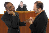 Judge supporting legalization of gay marriage — Stock Photo