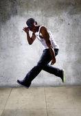 Hip hop dancer jumping — Stock Photo