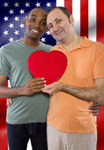 Sex gay couple legally married — Stock Photo