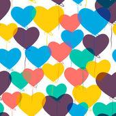 Bir kalp şeklinde balonlar. — Stok Vektör