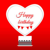 Bolo feliz aniversário — Vetorial Stock