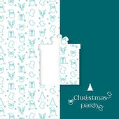 Background with Christmas symbol pattern. Christmas and New Year greeting card templates - gift. — Stock Vector