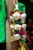 Braid of garlic — Stock Photo