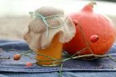 Pumpkin Jam in a jar — Stockfoto