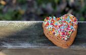 Corazón de galleta — Foto de Stock
