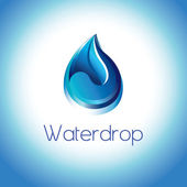 Pure water droplet — Stock Vector