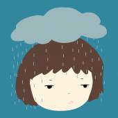 Why does it always rain on me vector — Stock Vector