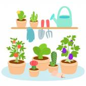Cute and colorful gardening tool vector  — Stock Vector