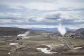 Krafla Geothermal Power Station — Stock Photo