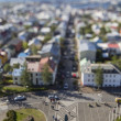 Aerial view of Reykjavik, the capital of Iceland with tilt effect — Stock Photo #77042323