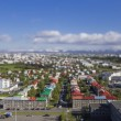 Aerial view of Reykjavik, the capital of Iceland with tilt effect — Stock Photo #77042341