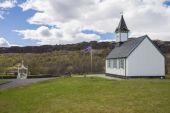 Thingvellir Church — Stock Photo