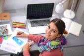 Modern young fashion designer working at studio. — Stock Photo