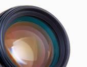 Camera lens, isolated on white background. — Stock Photo