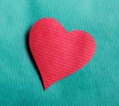 Heart , isolated on blue background. — Stockfoto
