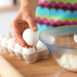 Baking ingredients for shortcrust pastry, plunger — Stock Photo #62730369