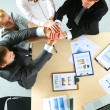 Business team with hands together - teamwork concepts — Stock Photo #74077725