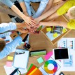 Business team with hands together - teamwork concepts — Stock Photo #74249711
