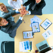 Business team with hands together - teamwork concepts — Stock Photo #74250761