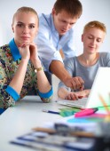 Young business people working at office on new project. — Stock Photo