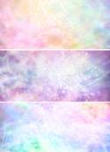 Misty sparkling pastel colored background banners x 3 — Stock Photo