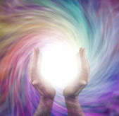 Sending vortex healing energy — Stock Photo