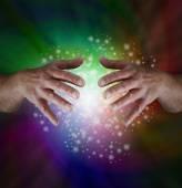 Magical Rainbow Sparkles — Stock Photo