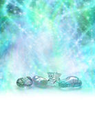 Cosmic Healing Crystals — Stock Photo