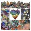 Collage of Healing Crystals — Stock Photo #60665849
