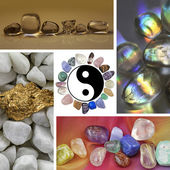 Crystal Healing Collage — Stock Photo