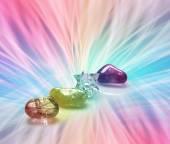Rainbow Healing Crystals — Stock Photo