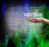 Nutrition and Health Word Cloud — Fotografia Stock