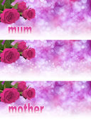 3 x Mother's Day Website Banners — Stock Photo