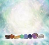 Chakra Crystals emitting beautiful energy — Stock Photo