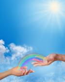 Sharing a Rainbow with you — Stock Photo