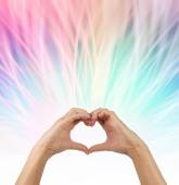 Sending love out — Stock Photo