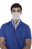 Portrait of confident junior medical doctor — Stock Photo