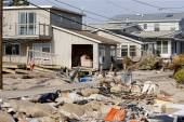 Hurricane Sandy Destruction at Breezy Point — 图库照片