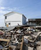 Hurricane Sandy Destruction at Breezy Point — Stock Photo