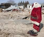 Hurricane Sandy Destruction at Breezy Point — Stock Photo