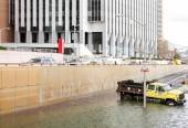 Flooded Battery Park Underpass after Hurricane Sandy — Stock Photo