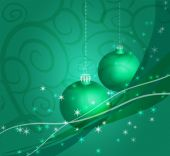 Christmasb decor green — Vector de stock