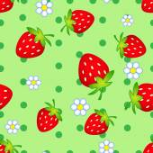 Strawberry flowers — Stock Vector