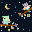 Two owls — Stockvektor  #75226735