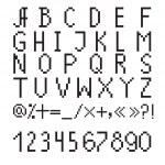 ������, ������: Pixel font