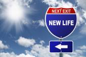 Interstate sign New Life — Stock Photo