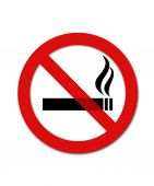 Black and red no smoking smybol — Stock Photo